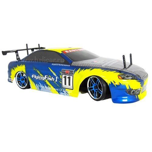 Радиоуправляемый автомобиль для дрифта HSP FLYINGFISH1 1:10 Drift Car 94123P/84 (36 см, сине-желтый)